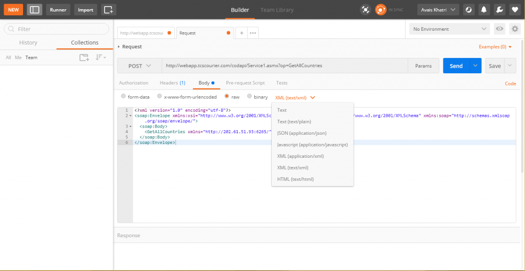 How to perform SOAP request on Postman? - Betalogics